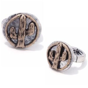 Jewelry - Silver & Gold Cactus Ring